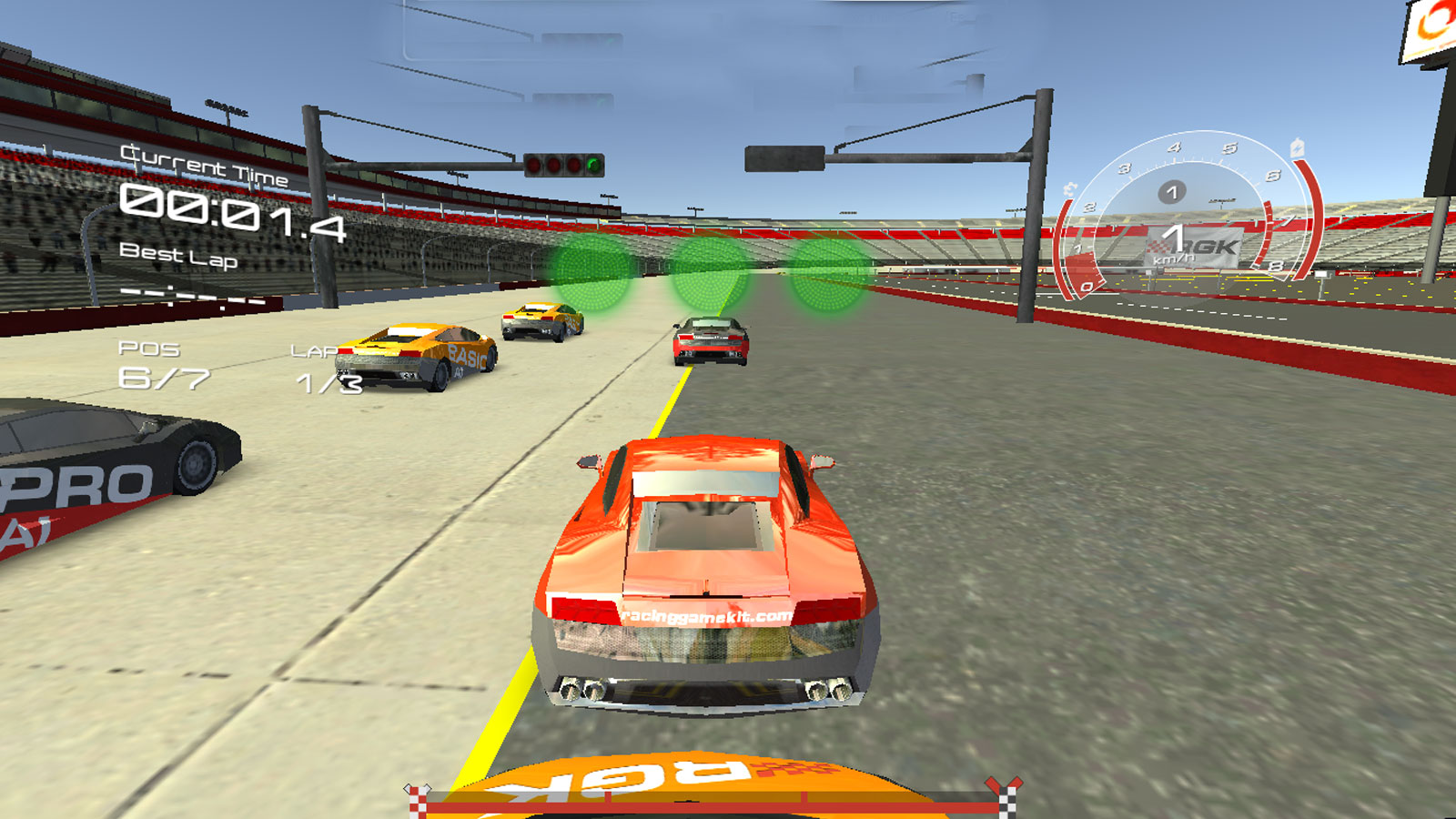 Driving Games: Training Race