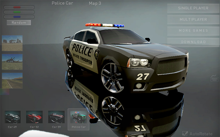 madalin stunt cars 3 dodge challenger police car